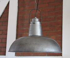 Hänge Lampe Ø 47 cm Alte Industrielampe sillbergrau Loftlampe Fabrik Deckenlampe