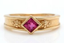 .35 Carat Natural Pink Tourmaline in 14K Solid Yellow Gold Women Ring