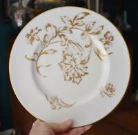 LOVELY VINTAGE ROYAL WORCESTER CARNATION CREAM GOLD FLORAL DINNER PLATE - HAVE 7