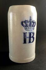 Vintage German HB Beer Stein Hofbräuhaus Munchen 1L Stoneware Ceramic