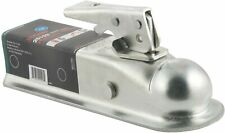 Straight-Tongue Trailer Coupler for 2-Inch Channel, Hitch Ball