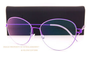 Brand New LINDBERG Eyeglass Frames Air Titanium Rim LENE 77 Purple