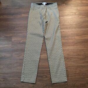 89th & Madison black white zigzag women pants 12