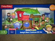 Fisher Price Little People Swing & Share Treehouse Gift Set  w/7 Figures