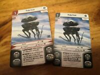Star Wars Imperial Assault Alt Art Promo - Probe Droid (Double Sided)x2