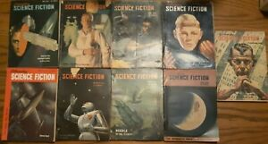 Lot of 9 Astounding Science Fiction magazines 49 50 51 Fair to Poor cond 2