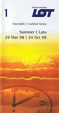 LOT Polish Airlines Timetable  March 29, 1998 =