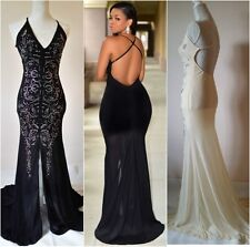 Black or Nude Evening Party Maxi  Dress with Jewel Detailing One Size UK8-10