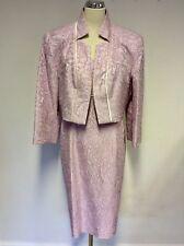BNWT DRESS CODE BY VEROMIA LIGHT PINK ROSE PRINT DRESS & JACKET SIZE 20 RRP £349