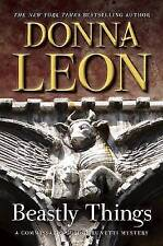 Beastly Things: A Commissario Guido Brunetti Mystery (Commissario-ExLibrary