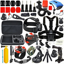 48-In-1 Essentials Accessories Kit For GoPro Hero 4 5 Session 3+ 3 2 1 LCD Black