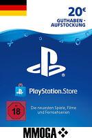 20 EURO PSN PlayStation Network Guthaben Key - 20€ Eur Code PS3 PS4 PS Vita - DE