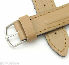 18mm BEIGE VOSTOK AMPHIBIA ARMY MILITARY WATCH BAND STRAP Leather Soviet Russian