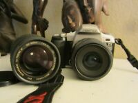 Pentax ZX-L QD Film Camera with two lenses