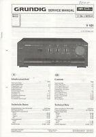 Grundig Service Anleitung Manual V 101  B844
