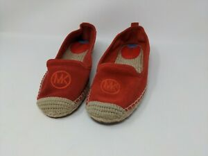 New Size 7.5 Michael Kors Lenny Espadrilles Leather Upper Rubber Outsole B