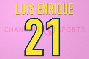 Luis Enrique #21 1998-1999 Barcelona Homekit Nameset Printing