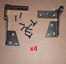 4 pc/2 Pair Pivot Hinge Antique Bronze 270 Degree Top/Bottom Cabinet/Door/DIY