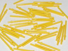 Lego Lot of 50 New Yellow Bar 6L with Stop Ring Parts