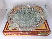 Vtg Retro Canape Platter Serving Dish Cut Glass 3 Sections Luxhem De Veropa Bowl