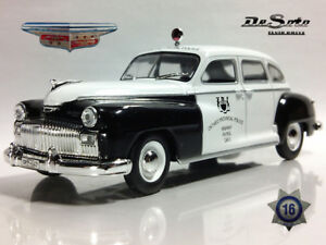 Chrysler DeSoto Canadian Police 1946 Year 1/43 Scale Collectible Model Car