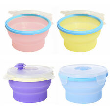 Silicone Collapsible Food Storage Container Lunch box Microwave Dishwasher Safe