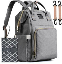 Baby Nappy Changing Bag, WaterHigh Diaper Bag Rucksack Travel Backpack with Mat