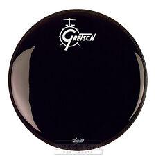 Gretsch Bass Drum Head Ebony 24 With Logo - GRDHEB24