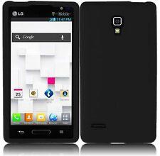 For LG Optimus L9 P769 Silicone Skin Cover Case - Black