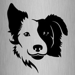 Border Collie Sticker Vinyl Car Window Dog Decal 150mm x 130mm