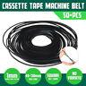 Square 40-130mm 50PCS Mix Cassette Tape Machine Belt Assorted Common Rubber Belt