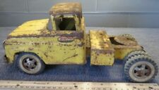 VINTAGE YELLOW TONKA PRESSED-STEEL SEMI TRUCK CAB
