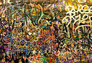 Australian Seller A1 size on canvas  Graffiti URBAN Street Art  Print
