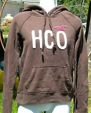 HOLLISTER CALIFORNIA BROWN SWEATSHIRT POCKET IN FRONT HCO LOGO SZ SMALL