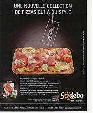▬► PUBLICITE ADVERTISING AD Pizza SODEBO  2012