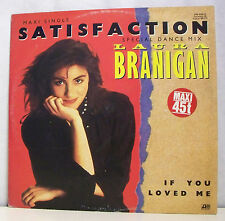 "MAXI 45 tours LAURA BRANIGAN Disque 12"" SATISFACTION - ATLANTIC 786936 F Réduit"