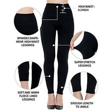 Women Legging Brushed Fleece Lined Winter Legging Yoga Work Office Wear BLACK