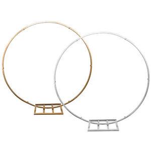 Metallic Circle Hoop Backdrop Stand, 84-Inch