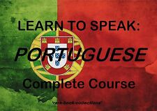 LEARN TO SPEAK PORTUGUESE - LANGUAGE COURSE - 5 BOOKS & 39 HRS AUDIO MP3 ON DVD