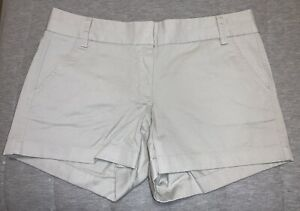 "J. Crew beige khaki Chino 4"" shorts Size 6 cotton blend SUMMER"
