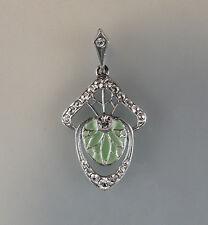 925er Silber Floraler Anhänger Transluzid-Email grün emailliert 9901224