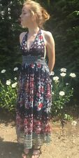 Angie Dress  Full Length Summer Multi Color Size M