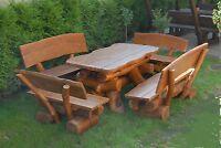 Rustikale Gartenmöbel, Holz Massiv, Sitzgruppe, Tisch, Bank, Esche