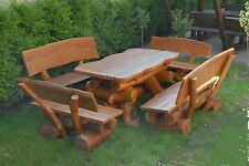 handgefertigte garten garnituren sitzgruppen aus holz g nstig kaufen ebay. Black Bedroom Furniture Sets. Home Design Ideas