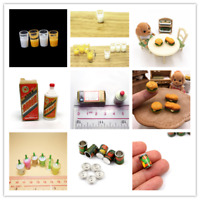 Various Dolls House Accessories Juice Cup/Hamburger/Wine Box/Canned Fruit etc