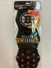 BOSTON BRUINS 3 PACK FACE MASK COVERS - REUSABLE WASHABLE W/ COTTON LINING