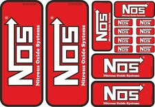 NOS Decal Sticker Nitrous Oxide Label Graphic Set Vinyl Adhesive 14 Pcs Red