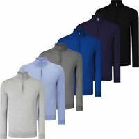 Callaway 2019 Weather Series Hommes Thermiques Côtelé ¼ Zip Merino Sweater