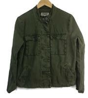 Ecote Military Jacket Women's Large Army Green Pocket Long Sleeve Causal Women