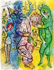 Le Cirque by Marc Chagall A2+ High Quality Canvas Print